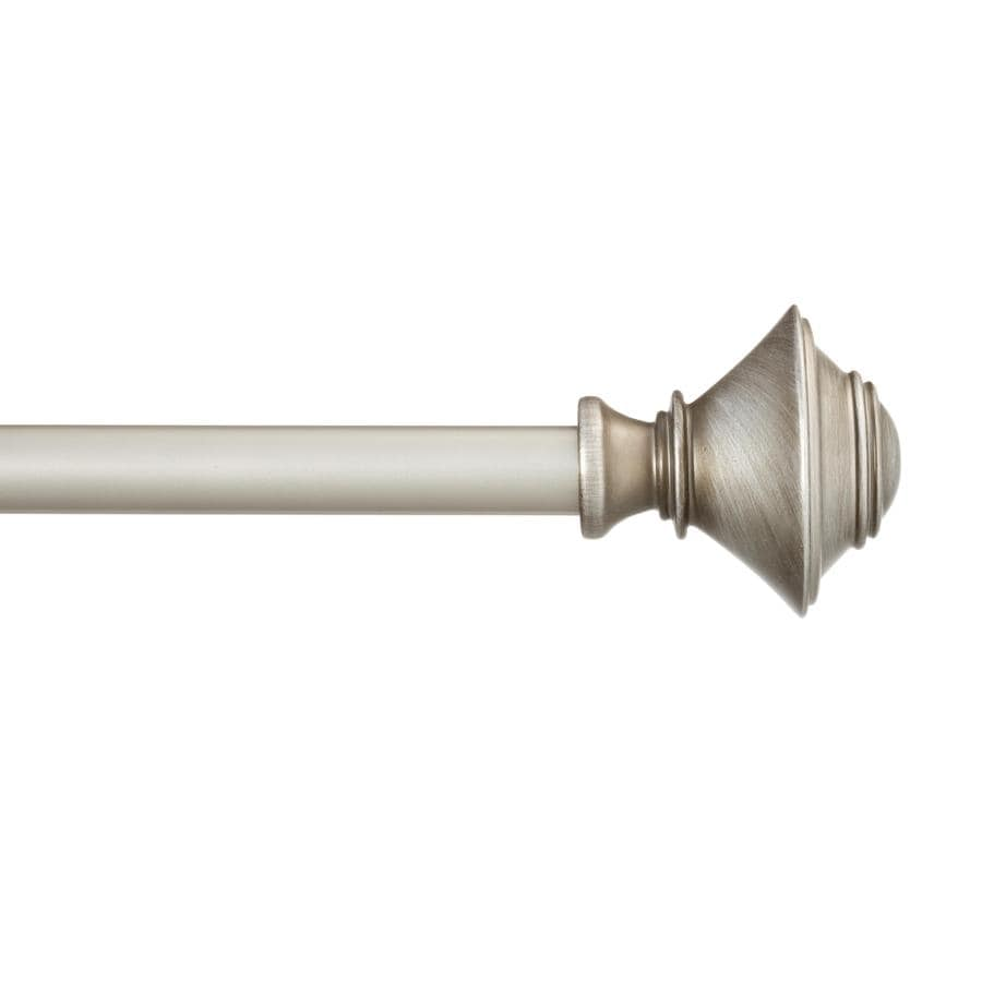 Shop Style Selections 28 In To 48 In Pewter Steel Single Curtain Rod At