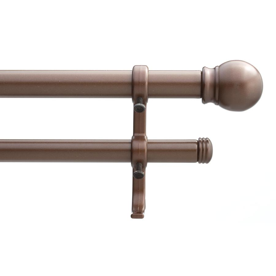 Style Selections 28-in to 48-in Metallic Bronze Double Curtain Rod