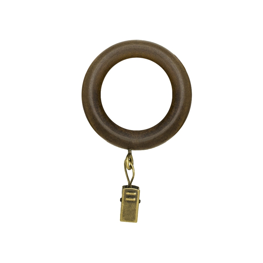 Style Selections 7-Pack Tobacco Wood Curtain Rings