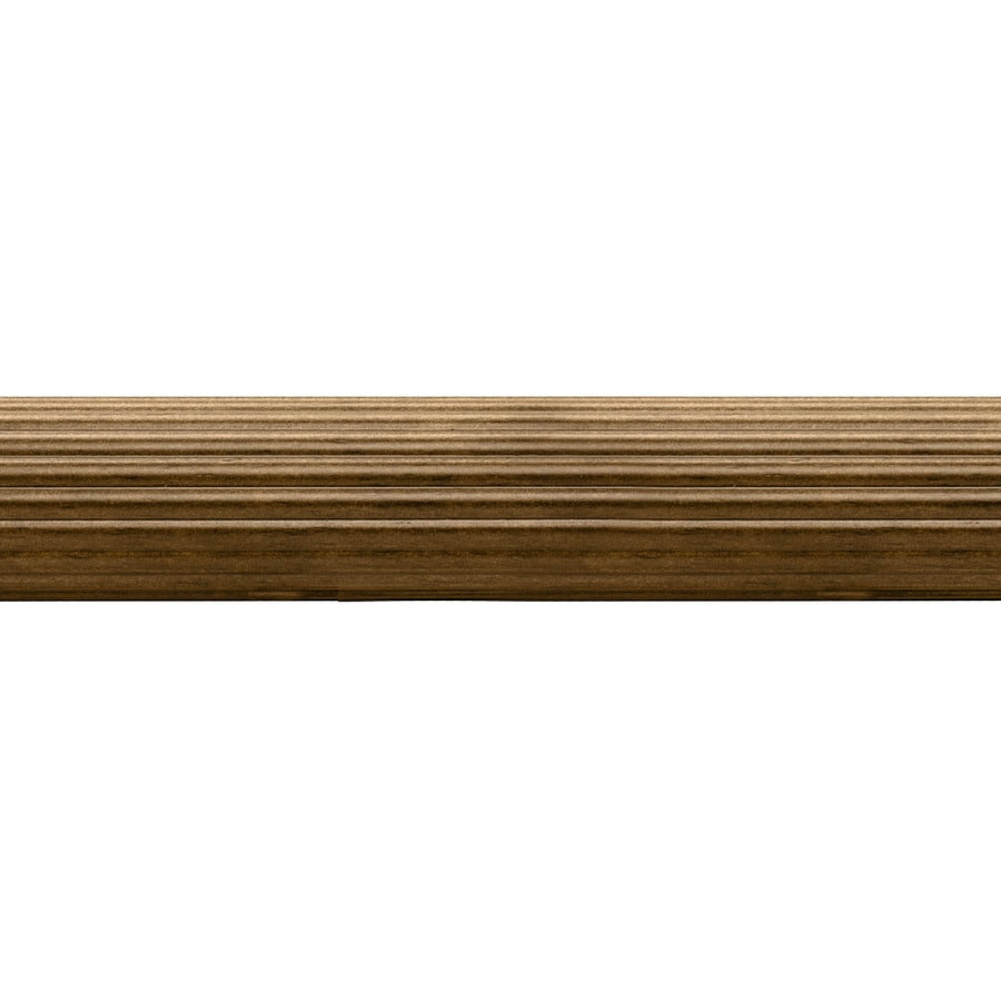 allen + roth Tobacco Wood Single Curtain Rod