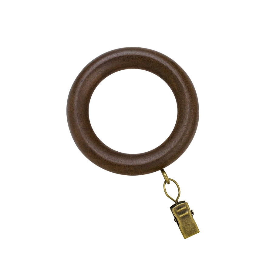 allen + roth 7-Pack Tobacco Wood Curtain Rings
