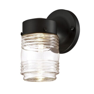 Jelly Jar 7 38 In H Black Led Outdoor Wall Light