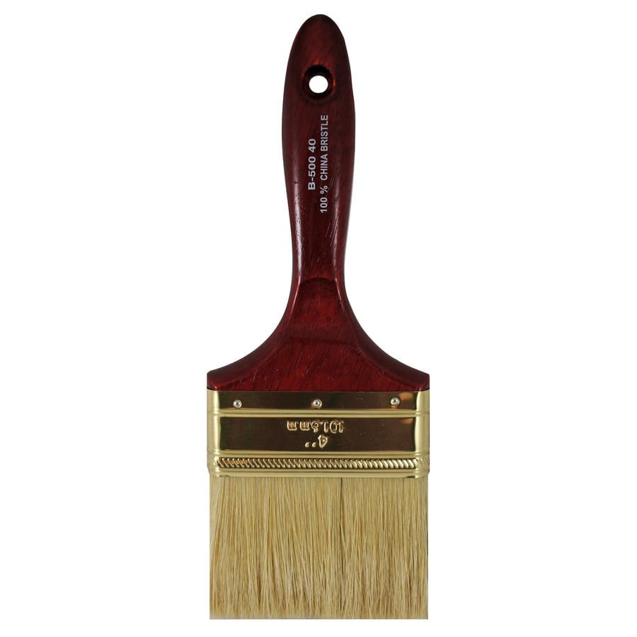 Premier Natural Bristle Wall Paint Brush (Common: 4-in; Actual: 4-in)