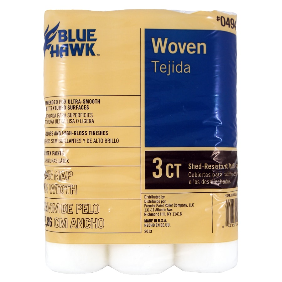 Blue Hawk BLUE HAWK 3-Pack Synthetic Blend Regular Paint Roller Covers (Common: 9-in; Actual: 9-in)