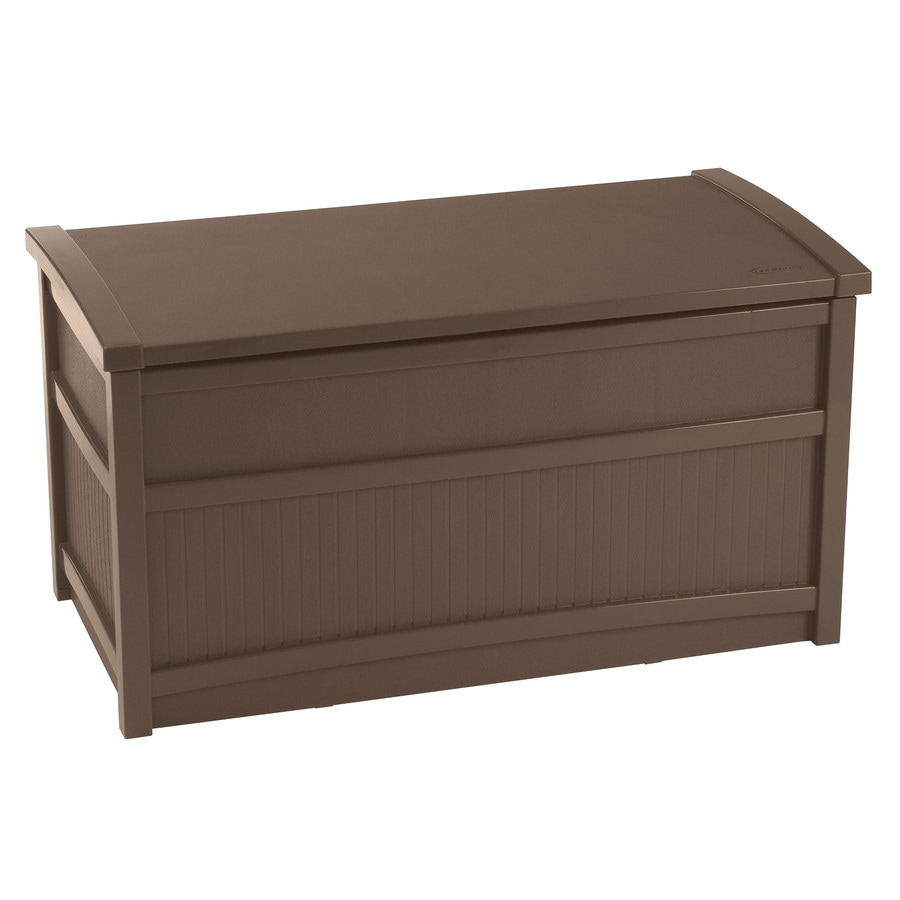 Suncast 41-in L x 21-in W 50-Gallon Java Resin Deck Box