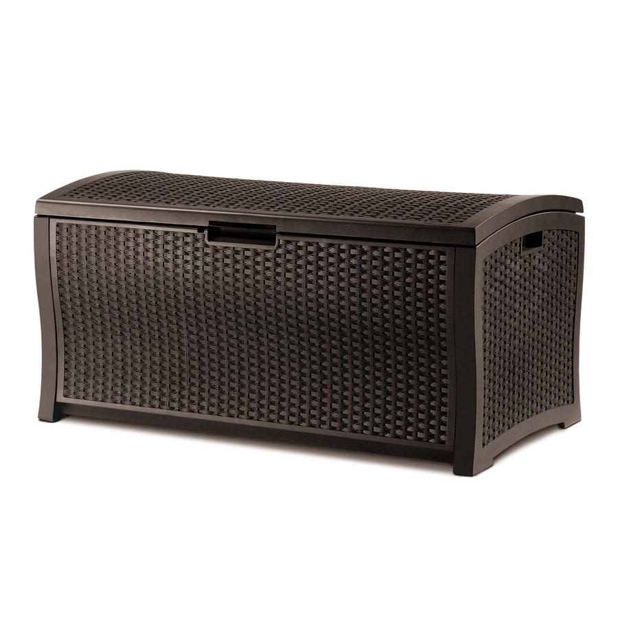 Suncast 29-in L x 52-in W 122-Gallon Java Brown Resin Deck Box