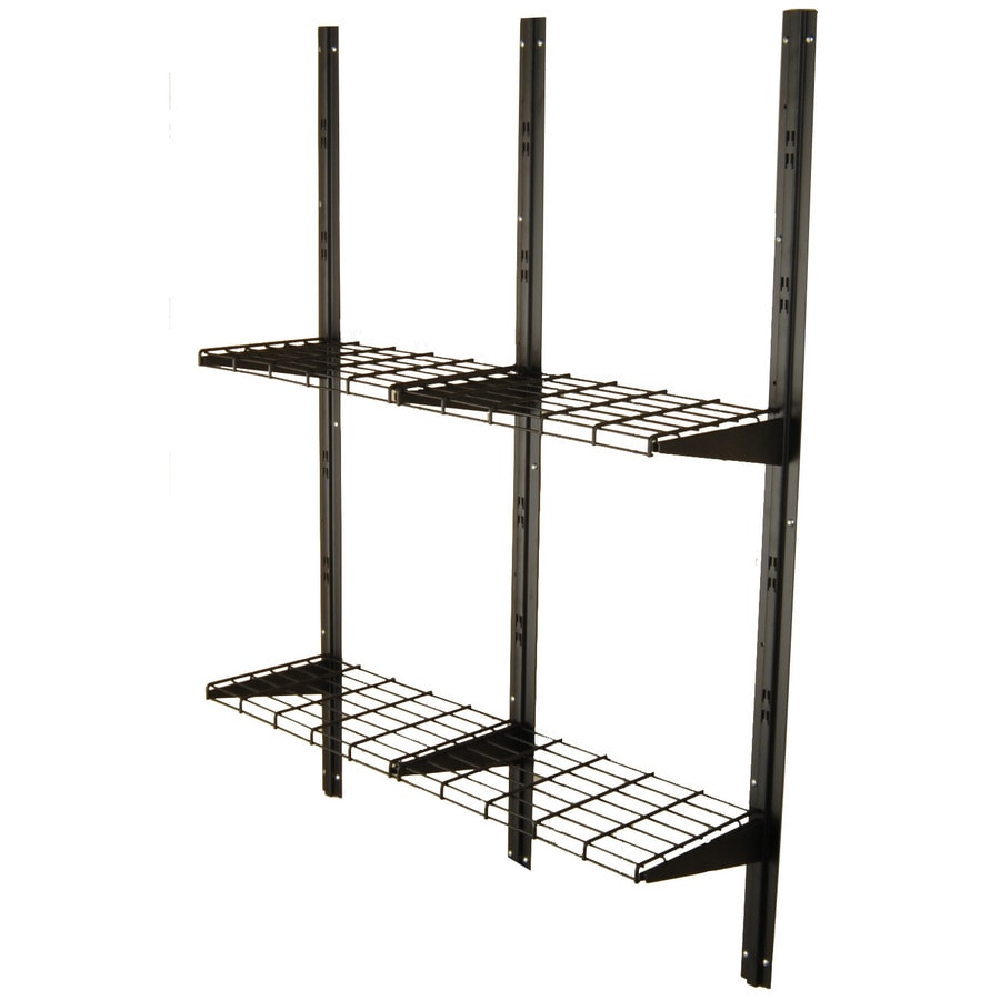 suncast black metal storage shed shelf