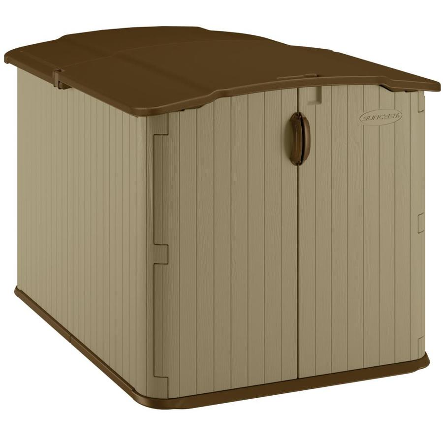 Suncast Taupe Resin Outdoor Storage Shed (Common: 57.5-in x 79.625-in; Interior Dimensions: 50.25-in x 71.625-in)