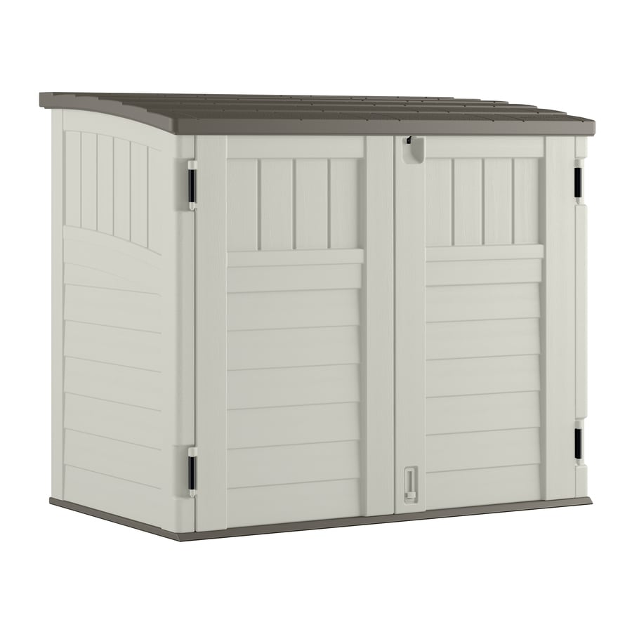 Shop Suncast Vanilla Resin Outdoor Storage Shed (Common: 53-in x ...