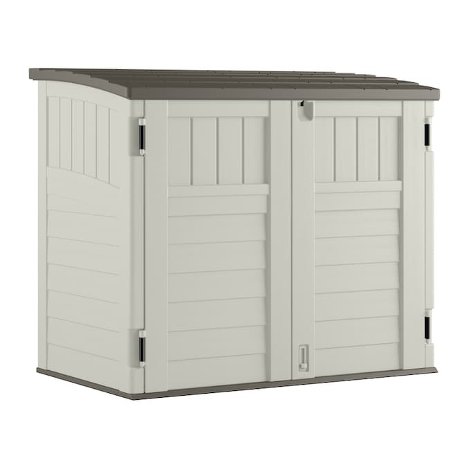 Suncast Vanilla Resin Outdoor Storage Shed Common 53 In X 31 5 In Interior Dimensions 49 In X 28 5 In In The Small Outdoor Storage Department At Lowes Com