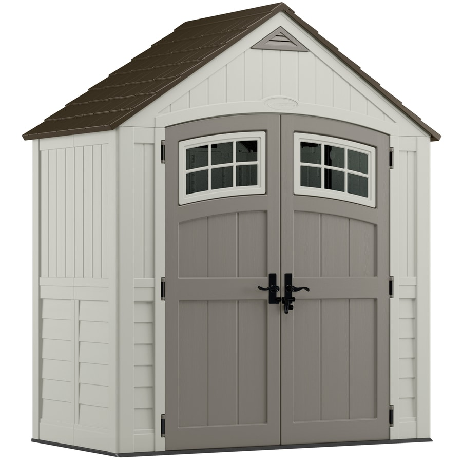 Suncast Cascade Gable Storage Shed (Common: 7-ft x 4-ft; Actual Interior Dimensions: 6.7-ft x 3.6-ft)
