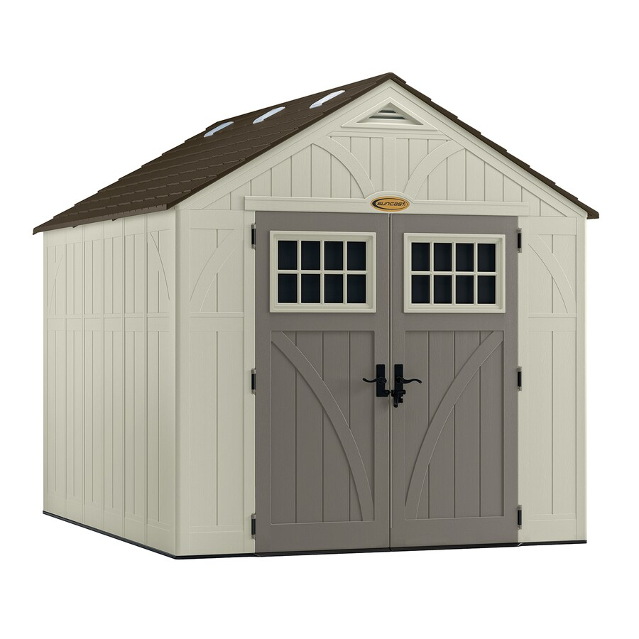 suncast tremont gable storage shed common 8 ft x 10 ft