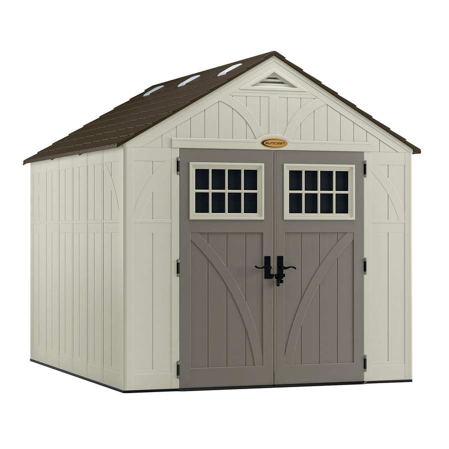 suncast tremont gable storage shed common 8 ft x 10 ft - Garden Sheds Vinyl