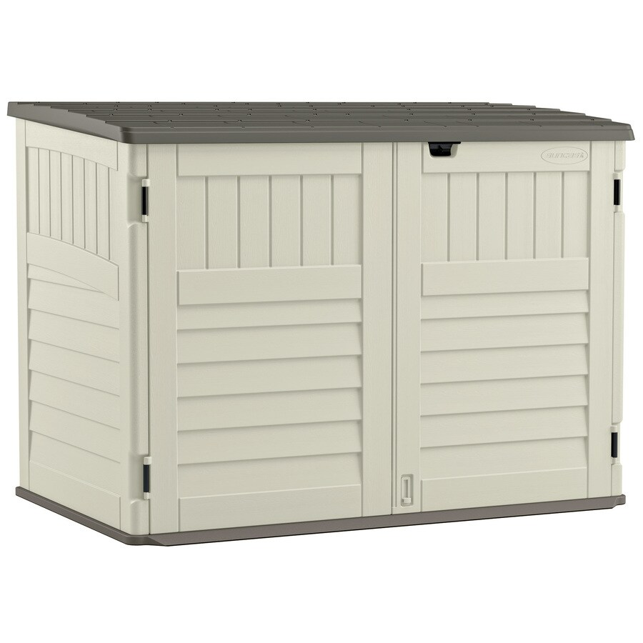 Suncast Vanilla Resin Outdoor Storage Shed (Common: 70.5-in x 44.25-in; Interior Dimensions: 65.5-in x 38.5-in)