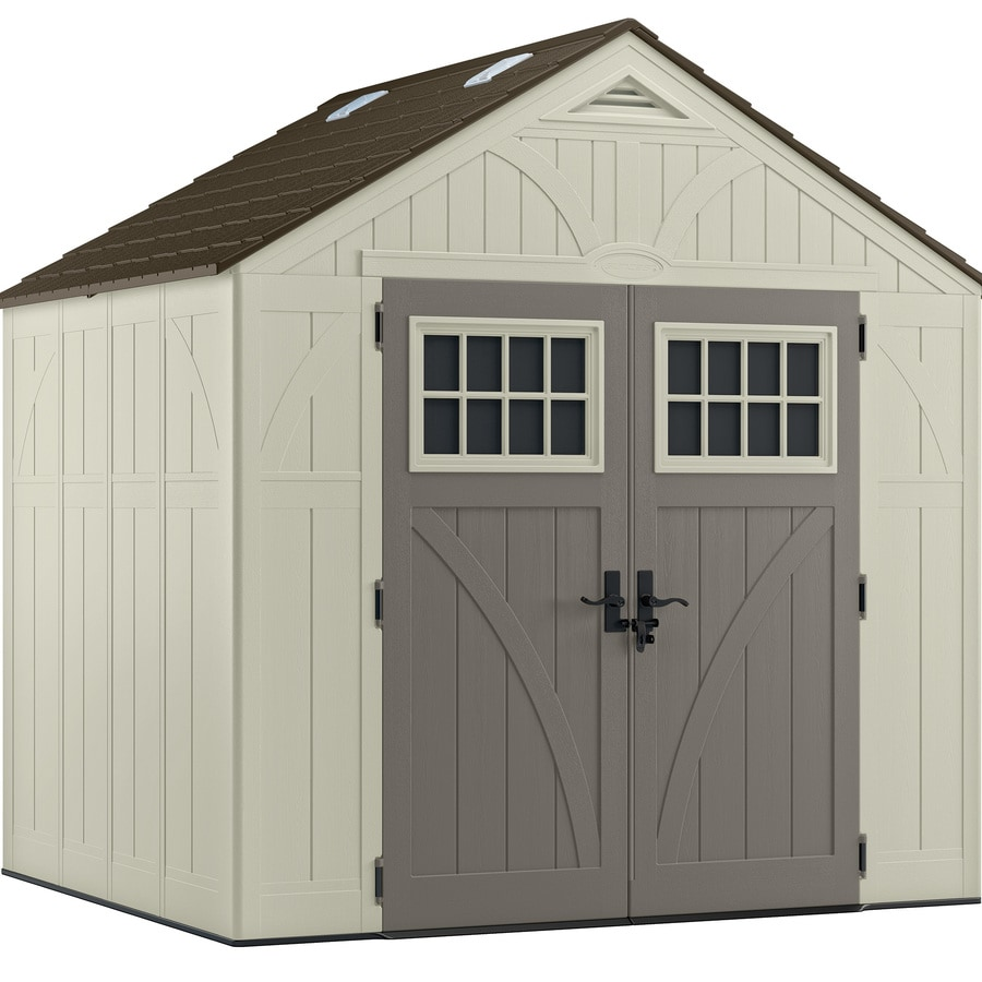 Suncast Tremont Gable Storage Shed (Common: 8-ft x 7-ft; Actual Interior Dimensions: 7.75-ft x 6.75-ft)