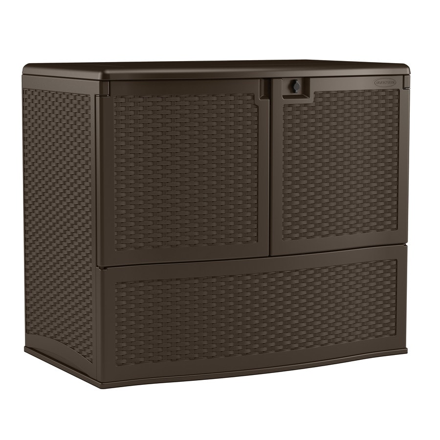 Suncast 48-in L x 30.25-in W 195-Gallon Java Resin Deck Box