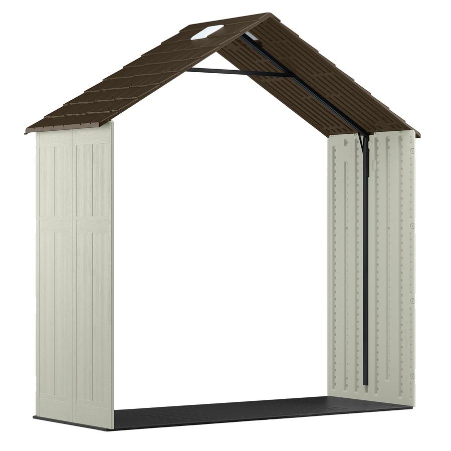 Shop suncast 8 ft x 3 ft resin storage shed expansion kit for Garden shed 7 x 3