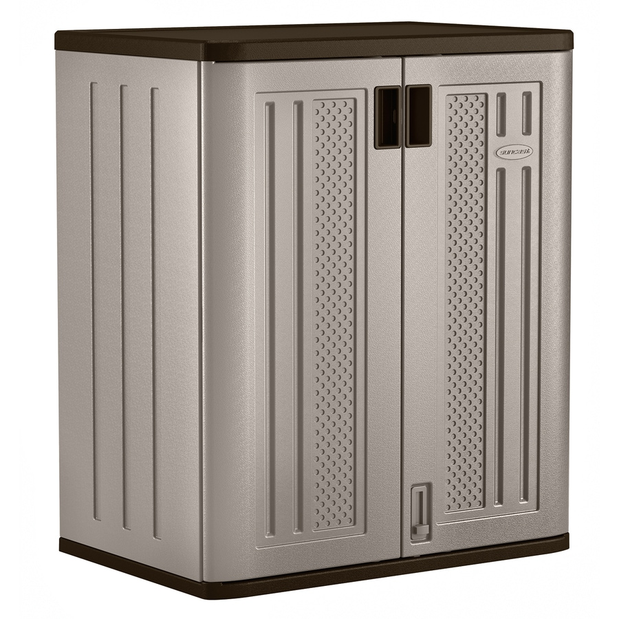 Shop Suncast 30 In W X 36 In H X D Plastic Freestanding Garage Cabinet At