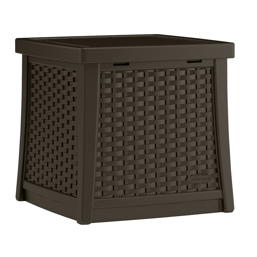 Suncast 18.75-in W x 18.75-in L Square Resin End Table