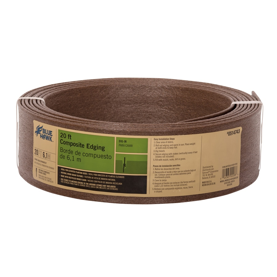 Blue Hawk 20-ft Brown Landscape Edging Roll