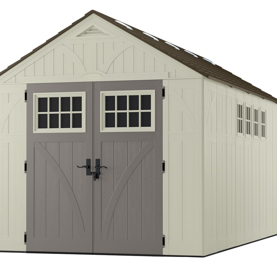 Shop Suncast Tremont Gable Storage Shed Common 8 Ft X 16
