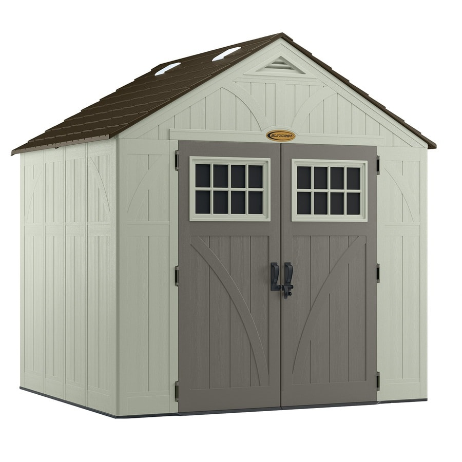 suncast tremont gable storage shed common 8 ft x 7 ft