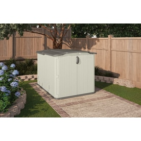 Suncast Vanilla Resin Outdoor Storage Shed Common 57 In