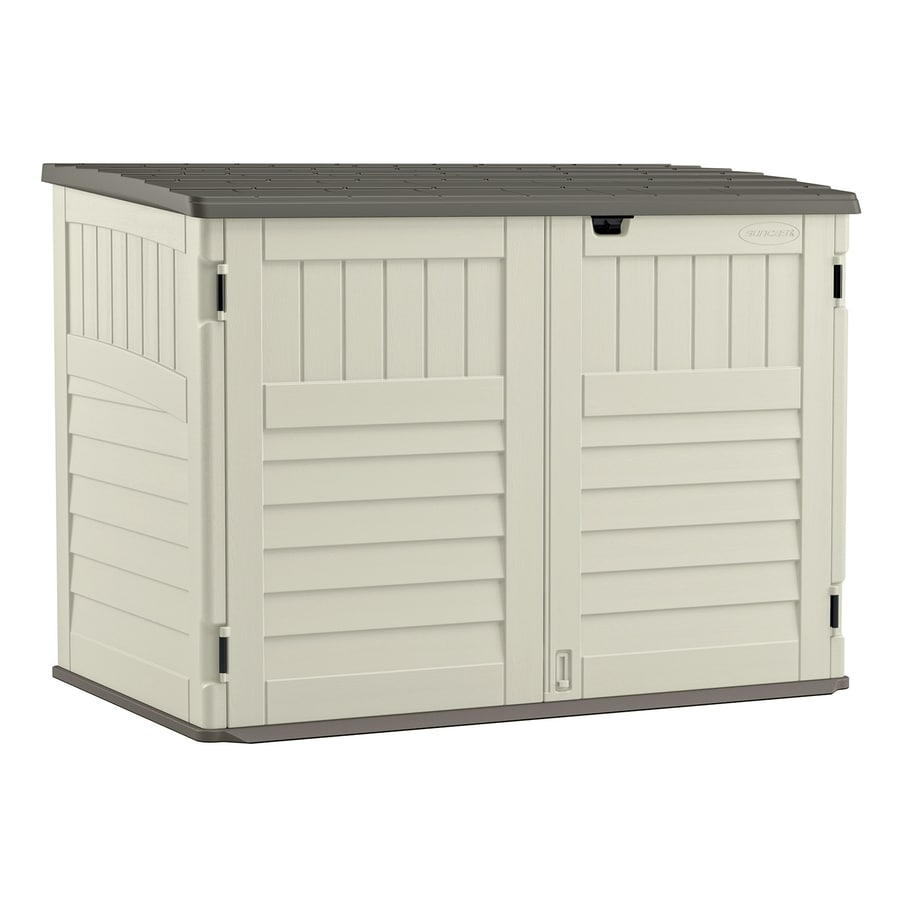 Nice Suncast Vanilla Resin Outdoor Storage Shed (Common: 70.5 In X 44.25 In