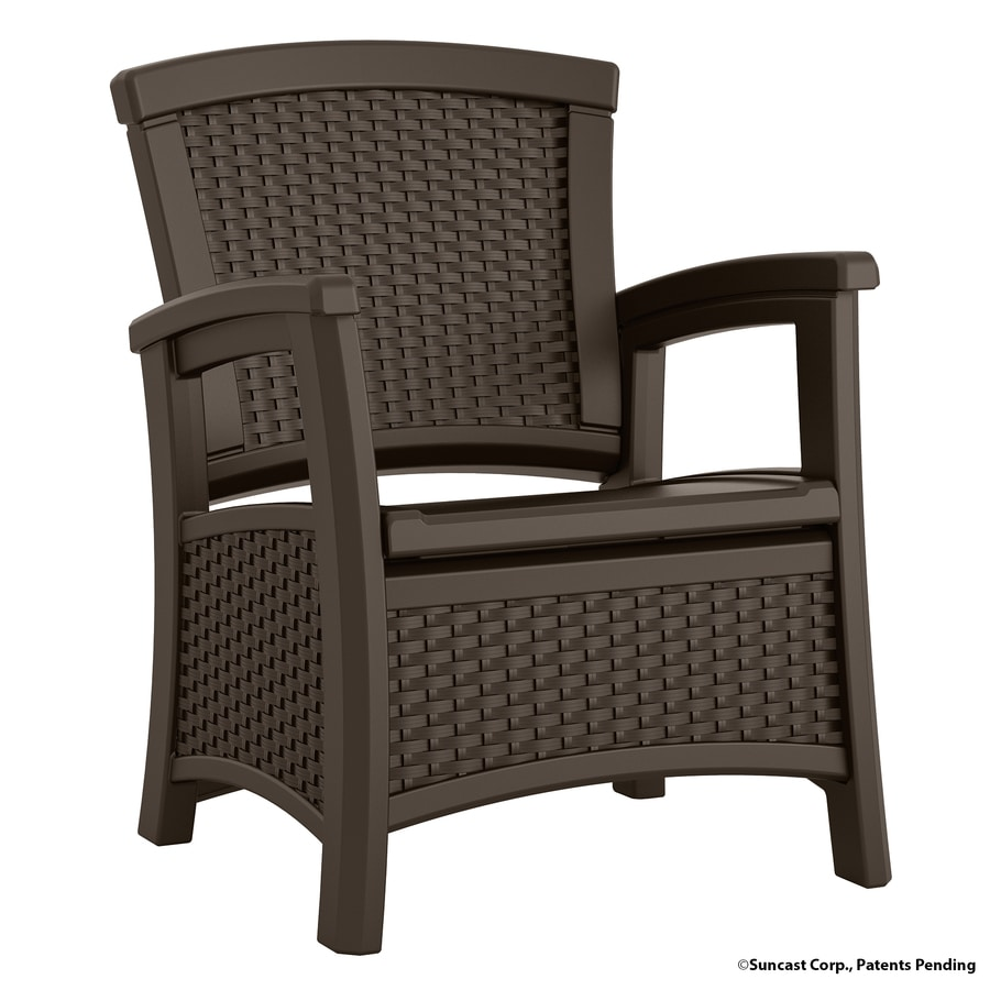 Suncast Elements Java Resin Patio Conversation Chair