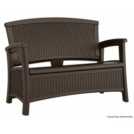 Suncast Suncast Elements 29.75 In W X 47 In L Java Resin Patio Bench