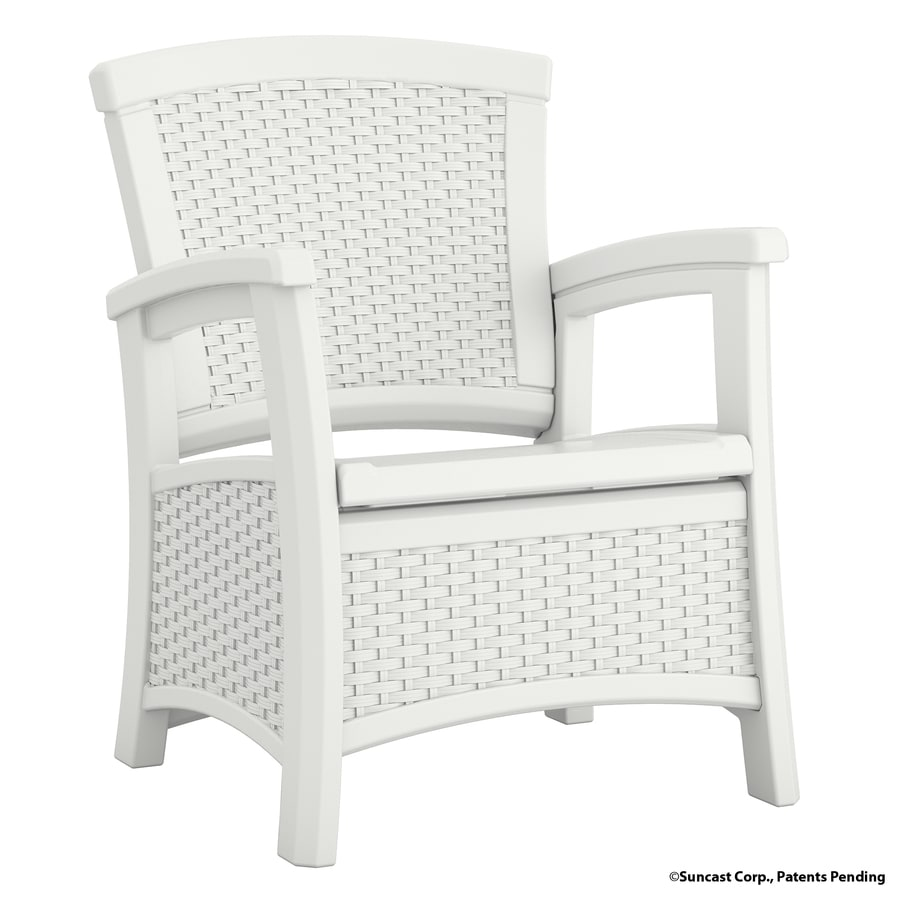 Suncast Suncast Elements White Resin Patio Conversation Chair