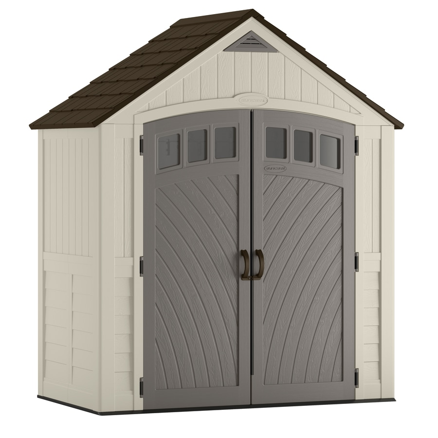Shop suncast covington gable storage shed common 7 ft x for Garden shed 4 x 3