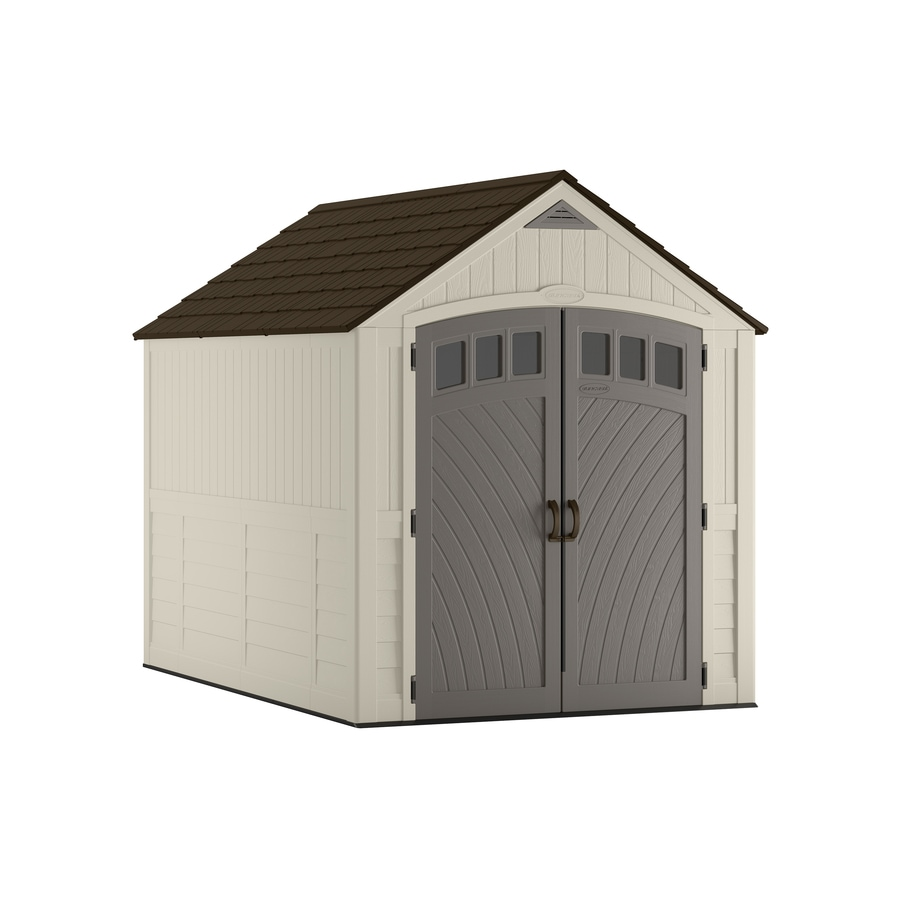 shop suncast covington gable storage shed common 7 ft x