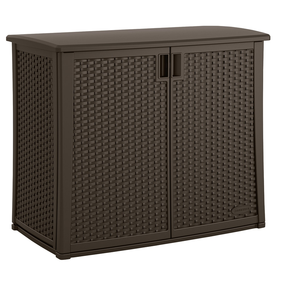 Suncast 23-in L x 42.5-in W 97-Gallon Java Resin Deck Box