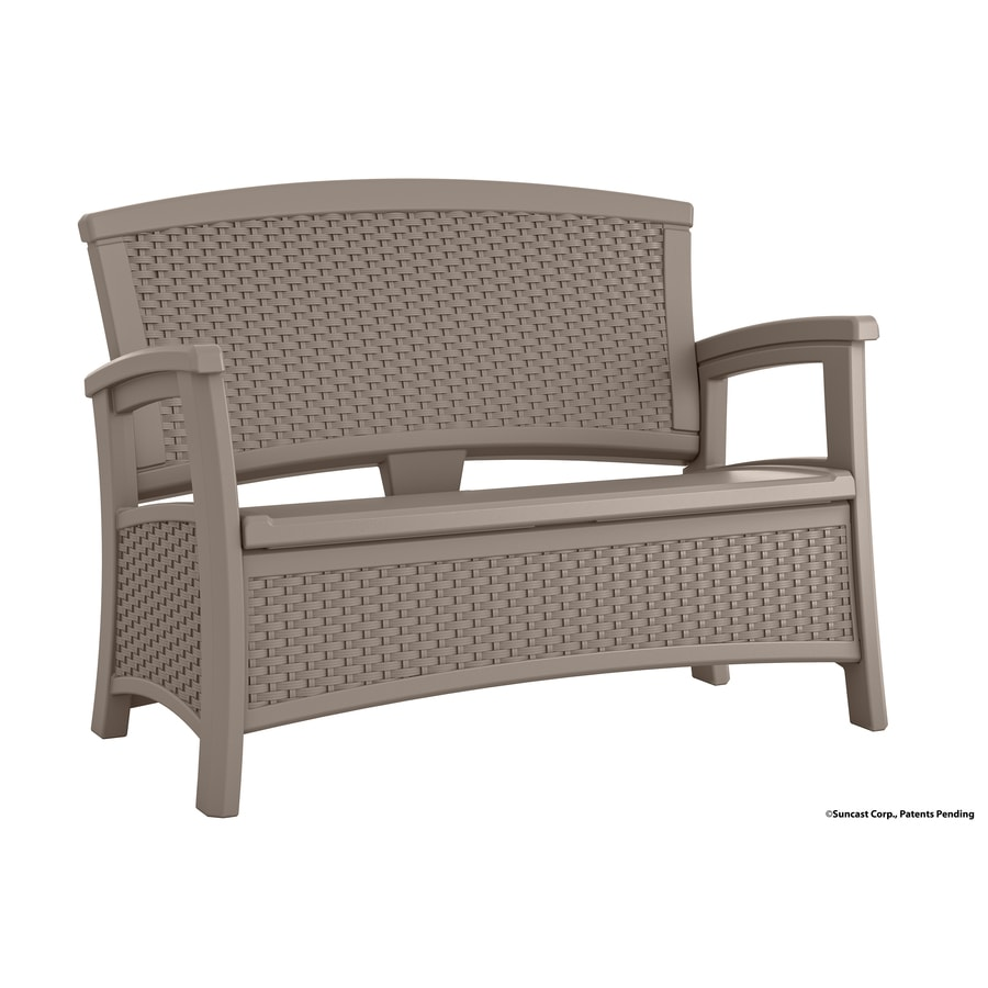 Suncast Suncast Elements 29.75-in W x 47-in L Taupe Resin Patio Bench