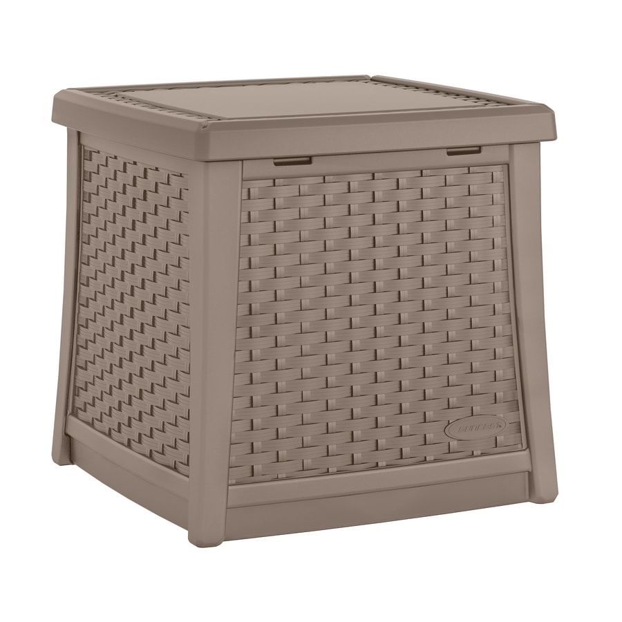 Suncast Suncast Elements 18.75-in W x 18.75-in L Square Resin End Table