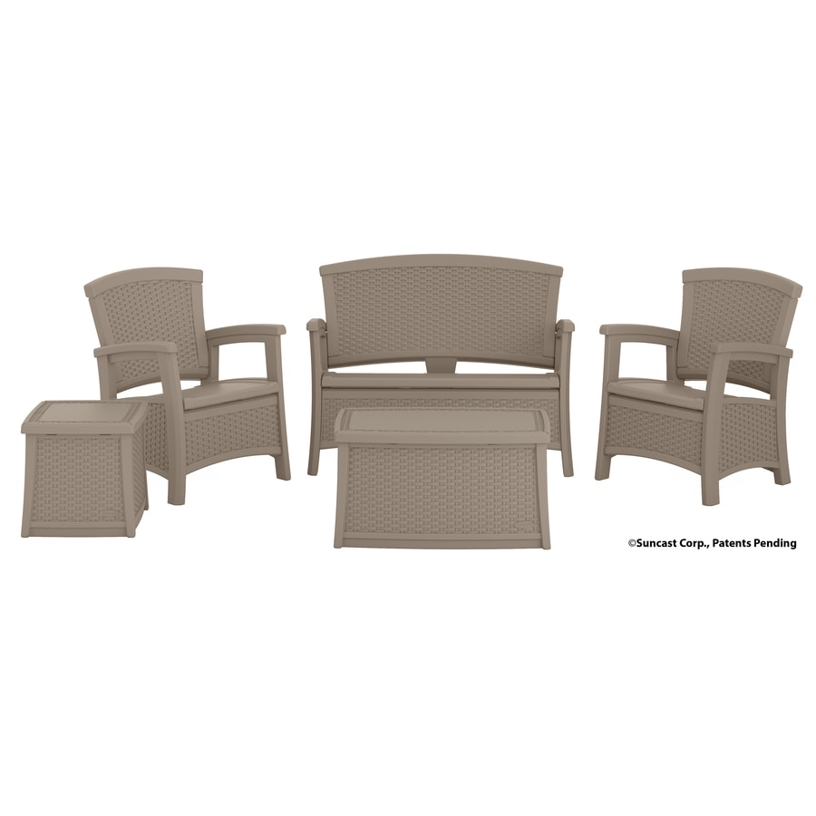 Suncast Suncast Elements 5-Piece Resin Patio Conversation Set