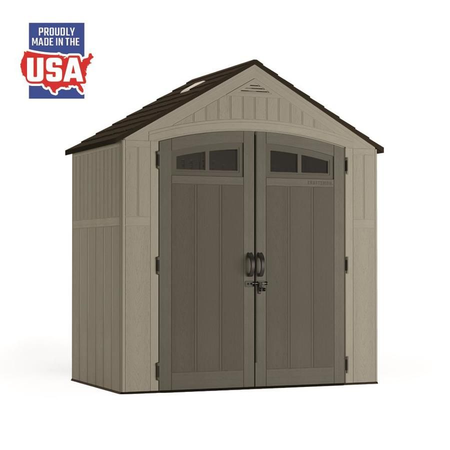 085cd848e817 CRAFTSMAN (Common: 7-ft x 4-ft; Actual Interior Dimensions: 6.83-ft x  3.83-ft) Craftsman Storage Shed