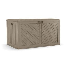 Suncast 26 75 In L X 49 25 134 Gallon Brown Deck Box