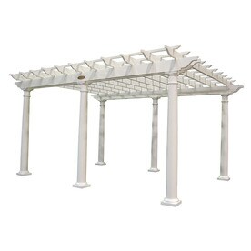 ... 192-in W x 105-in L x 105-in H x White Resin Freestanding Pergola