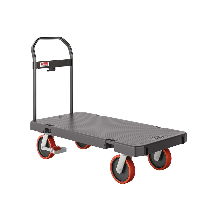 Shop suncast 1 000 lb capacity gray resin standard duty platform truck at - Bed casters lowes ...