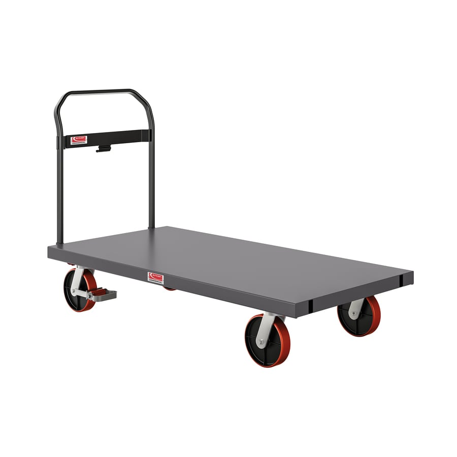 Shop suncast 2 000 lb capacity gray steel heavy duty platform truck at - Bed casters lowes ...