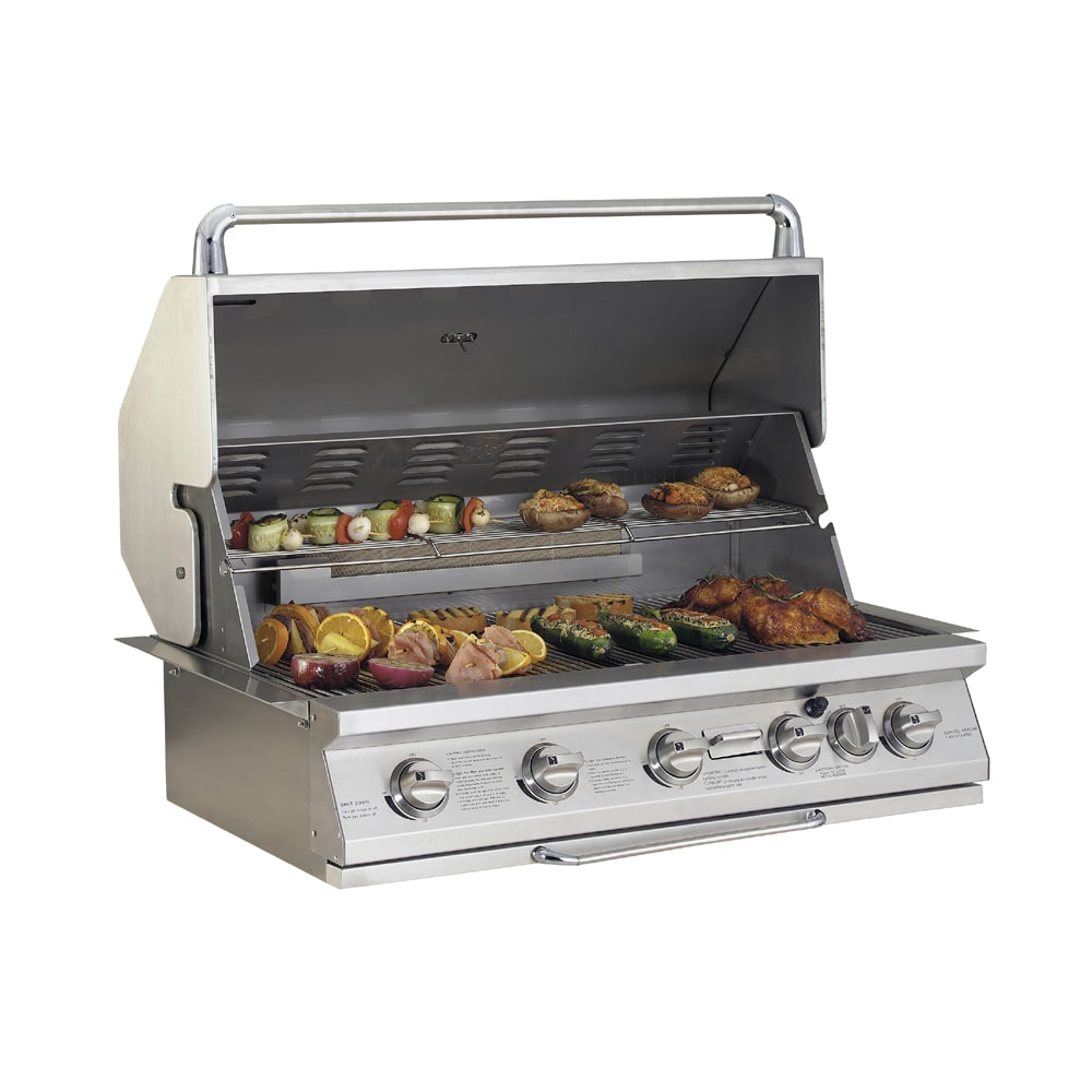 jenn air 60000 btu stainless steel built in gas grill at lowes com