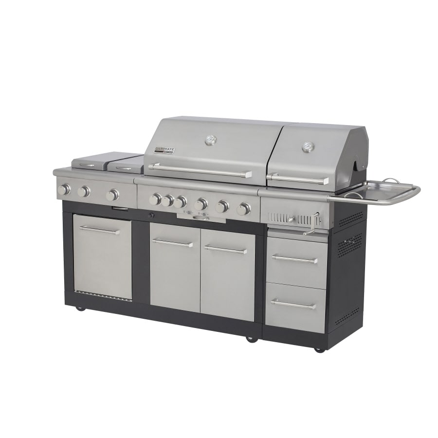 nexgrill 5 burner gas and charcoal grill at lowes com