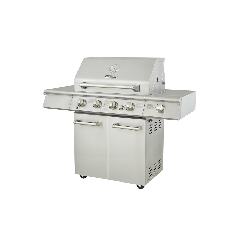 Kitchenaid 4 Burner Gas Grill At Lowes Com