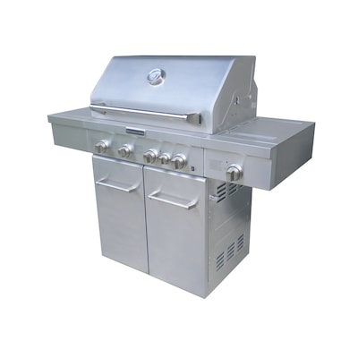 4-Burner (40,000-BTU) Liquid Propane and Natural Gas Grill with Side and  Rotisserie Burner