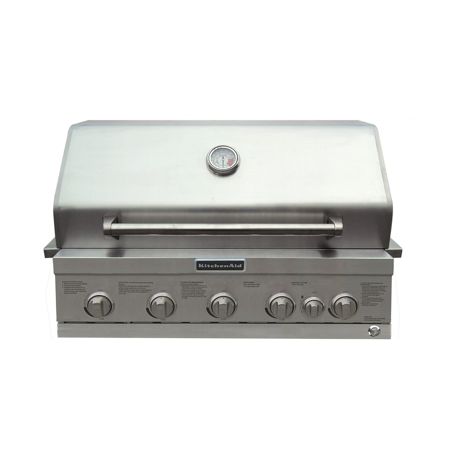 Kitchenaid 4 Burner Built In Liquid Propane And Natural Gas Grill At
