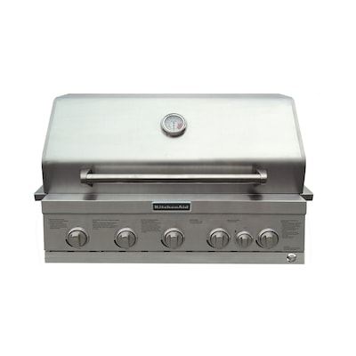 4-Burner Built-In Liquid Propane and Natural Gas Grill