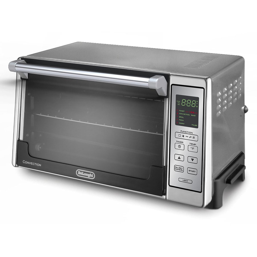 De'Longhi 6-Slice Silver Convection Toaster Oven with Auto Shut-Off