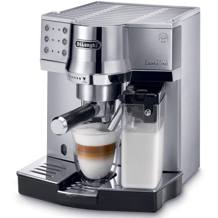 shop de 39 longhi stainless steel manual programmable espresso machine at. Black Bedroom Furniture Sets. Home Design Ideas